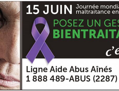 Blog du mois de Juin: Journée mondiale de lutte contre la maltraitance envers les personnes aînées